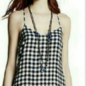 Princess Vera Wang Checkered Spagetti Straps Top